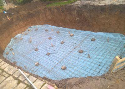 Bau eines ovalen Folienbeckens mit 0.75mm Keilbiese in Grevenbroich
