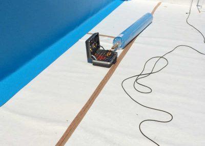 Sanierung eines Betonbeckens mit 1.5mm gewebeverstärkter Folie in Düsseldorf