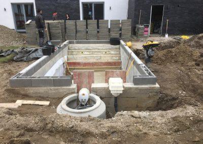 Sanierung Betonbecken mit 1.5mm gewerbeverstärkter Folienauskleidung in Korschenbroich